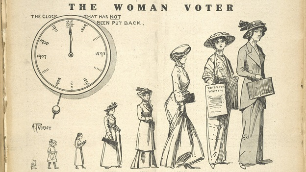 The woman voter- see how she grows!